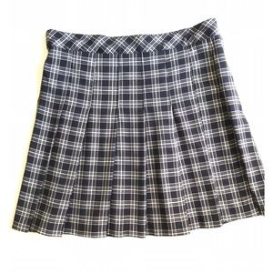 H&M Divided Black&White Check Plaid Mini Skirt